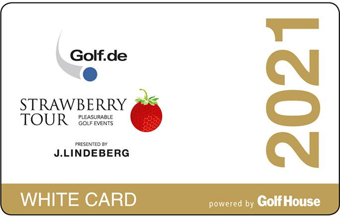 Strawberry White Card